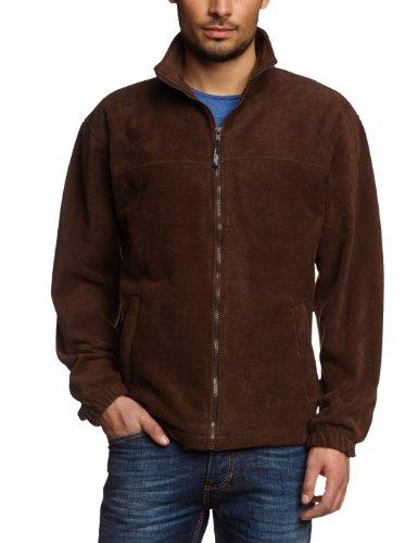 James & Nicholson Herren Full-Zip-Fleece Jacke, (braun), X-Large Braune Fleece