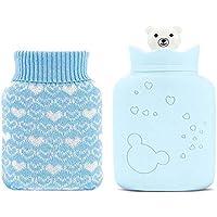 LNYF-OV Wärmflasche heiße Wasserflasche Kaltwasserbeutel Strickstoff Satz tragbarer Handwärmer Silikon warme Wasser... preisvergleich bei billige-tabletten.eu