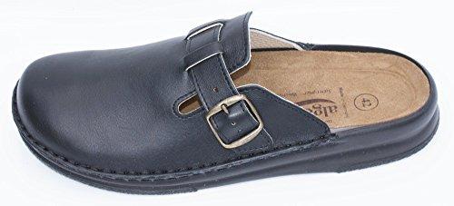 Algemare Pantolette Nappaleder Wechselfußbett Sani-Pur Leder Decksohle 8140_0101, Größe:43