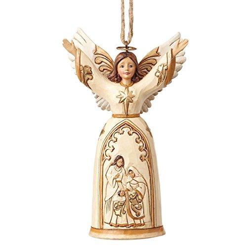 Heartwood Creek Ivory & Gold Nativity Angel (Hanging Ornament) -