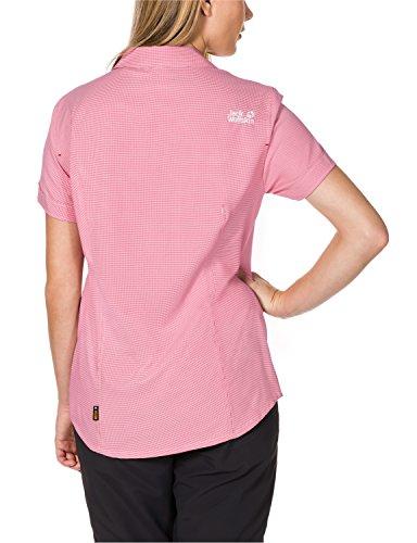 Jack Wolfskin Chemisier pour femme Kepler T-shirt W Azalea Red Checks