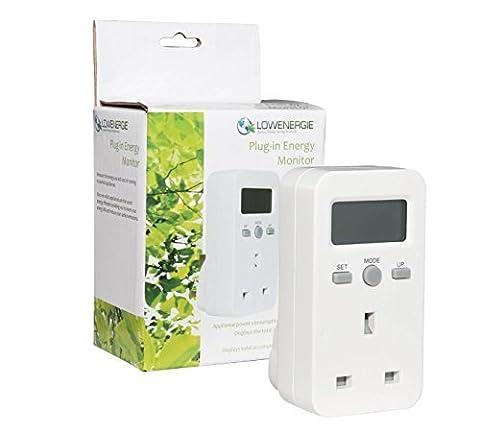 Lowenergie Plug-in Energy Monitor Power Meter Electricity Electric Usage Monitoring Socket UK