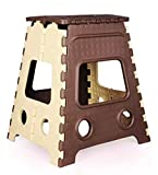 #7: Folding Step Stool - 16 inch Height Premium Heavy Duty Foldable Stool for Kids & Adults, Kitchen Garden Bathroom Stepping Stool