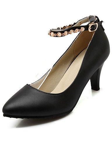 WSS 2016 Chaussures Femme-Mariage / Habillé / Décontracté / Soirée & Evénement-Noir / Rose / Blanc-Talon Aiguille-Talons-Talons-Similicuir white-us10.5 / eu42 / uk8.5 / cn43