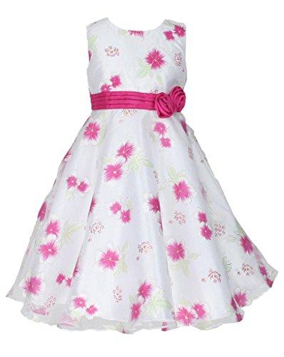n Anlässe Festkleid Blumenmädchen Tee-Länge Kleid Fuchsie Gr.122/128 (F2310-8#) (Tee-mädchen-kleider)