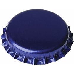 Chapas de 26mm para botellas normales, Azules - 100 unid