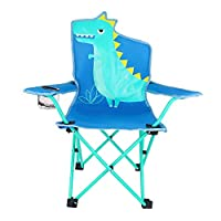 olyee Kids Folding Lawn and Camping Chair, Portable Seat Stick Chair with Mesh Cup Holder, Foldable Garden Chair Beach Chair