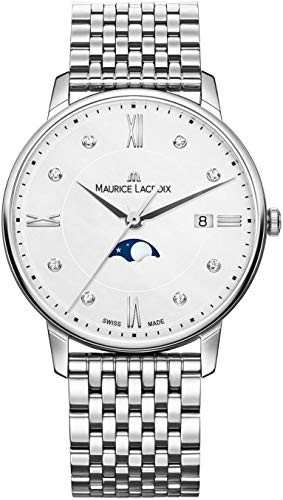 Maurice Lacroix Eliros Moonphase Ladies Quartz Watch, White, 35mm, Bracelet