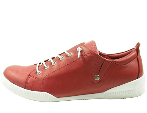 Andrea Conti Damen Schnürer 0345724 Halbschuhe Sneaker, Schuhgröße:37;Farbe:Rot