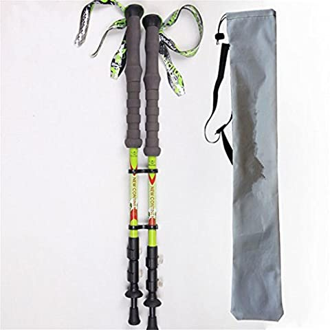 Bâton de marche léger avec poignée en mousse EVA E-674K Bâtons de marche en fibre de carbone Aero pour femmes et hommes Bâtons , 2PC