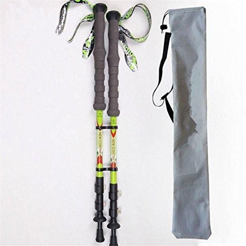 Baisde Leichter Wandern Stick mit EVA Schaum Griff E-674K Aero Carbon Faser Material Walking Pole für Frauen und Männer Sticks, 2PC