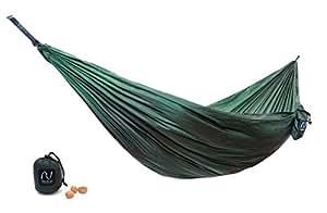 NOVITÁ 2017! Amaca da viaggio ultraleggera con imballaggio salvaspazio - SOLO 195g e 10x10cm | Superficie 2,60 x 1,40 m | Amaca da giardino, esterno, campeggio | Travelax