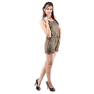 GOODWILL Women's Casual Wear Green Viscose Jumpsuit