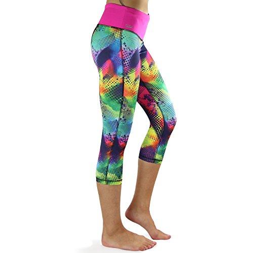 142145021180d FORMBELT Women Running Capri 3/4 Tights with Waist-Pocket for Smartphone  Mobile Key Credit Cards / Sports Leggings Workout Pants Integrated  Waistpack Belt ...