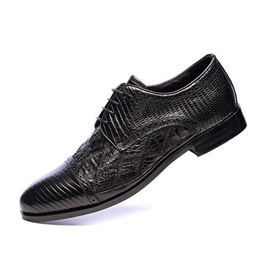 YXLONG New Lederparkett, Leder Herrenschuhe Kleid Spitze, Schwarze Herren Anzug Schuhe Größe 46,Black-38 -