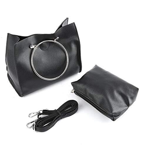 d49ebd969b2 Fashion Women Bag Stylish Iron Ring Handle Handbag Messenger Bag Composite  Bag Handbag Ladies Casual PU Leather Bag