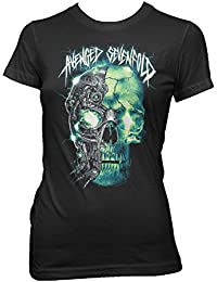 Avenged Sevenfold Turbo Skull Black Women's T-shirt Official Licensed Music