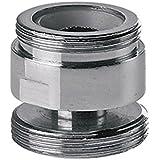 Adaptador de metal giratoria para la cocina del agua del grifo grifo aireador de 22 mm a 24 mm macho