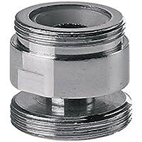 Adattatore metallico girevole per cucina solo acqua del rubinetto aeratore 22 millimetri per 24 millimetri maschio