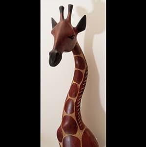 "African wooden giraffe ""Tonga"" 90 cm African decoration"