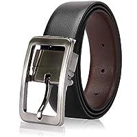 Soormey Men's Leather Black-Brown Reversible Belt