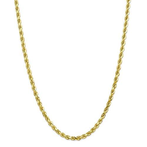 10K 5mm diamantiert Seil Kette Armband–20cm–Höhere Gold Goldgrad als 9Karat Gold (10k Gold Armband 5mm)