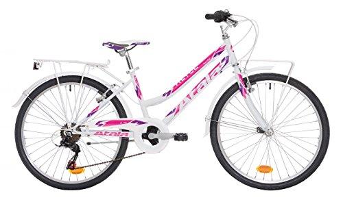 Bicicletta da bambina Atala Alice 6V bianco/fuxia 24'