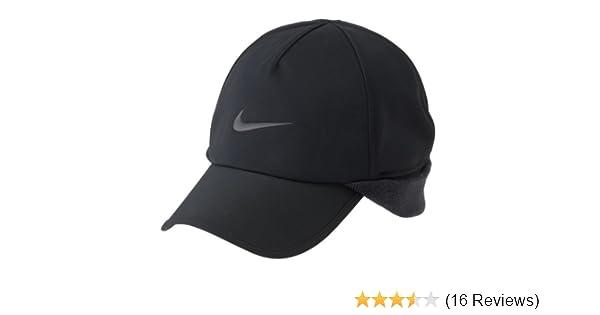 83c6ab548ba Nike Golf 2013 Unisex Protect Winter Cap with Ear Flap - Black   Amazon.co.uk  Sports   Outdoors
