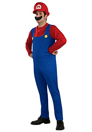 Herren-Kostüm SUPER MARIO BROS. ROT/BLAU, Größe:M - Deluxe (Herren Kostüme Luigi Deluxe)