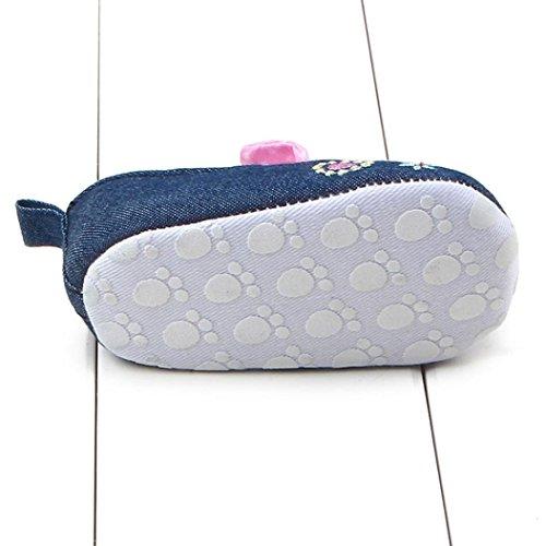 Schuhe Leinwand Baby 18 Longra lauflernschuhe weichen Sohle Monate babyschuhe Krippe M盲dchen Pink Babyschuhe 0~ Sneaker X8w5qw