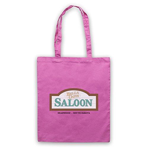 Inspiriert durch Deadwood Bella Union Saloon Inoffiziell Umhangetaschen Rosa