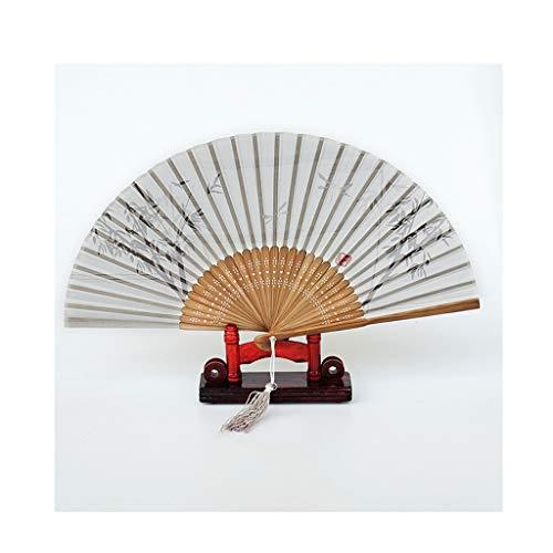 Faltfächer WHQ Damen-Retro, japanische kreative Handwerks-Tanz-Handgeschenke zu den Kunden/zu den Lehrern/zu den Freundinnen QD (Color : C)