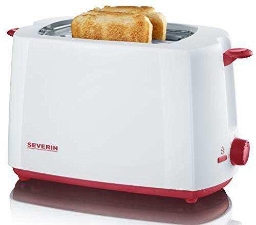 Toaster Rot Amazon (SEVERIN AT 9940 Toaster, weiß/rot)