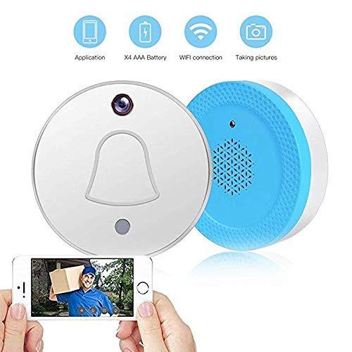 LQUIDE WiFi Smart Wireless-Türklingel com Intercom-System für den Heimgebrauch The Sie erhalten den Eindruck eines Besucherfotos auf der App Smartphone Smart-draht Com