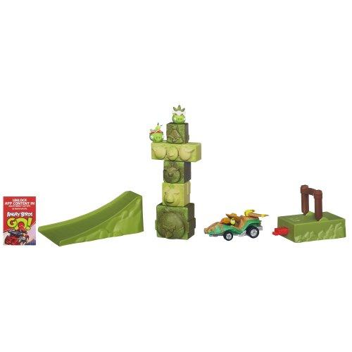 Hasbro Angry Birds Go! Jenga Tower Knockdown Racing Action Game