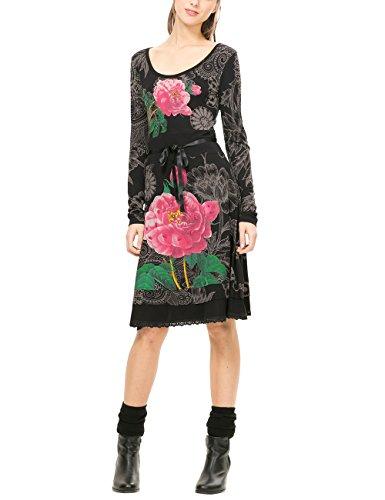 Desigual VEST_ROBERT, Vestito Donna, Grigio (Gris Alquitran), 32 cm (Taglia Produttore: XS)