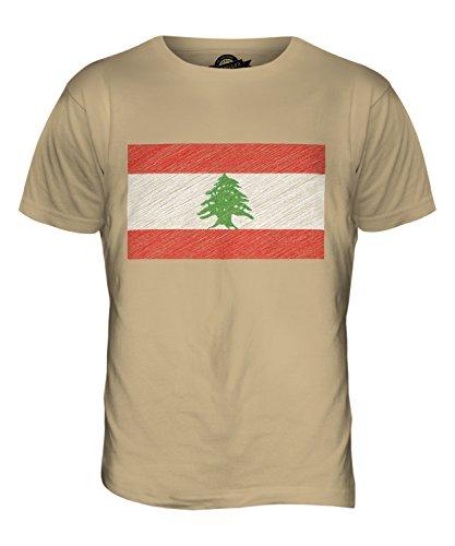 CandyMix Libanon Kritzelte Flagge Herren T Shirt Sand