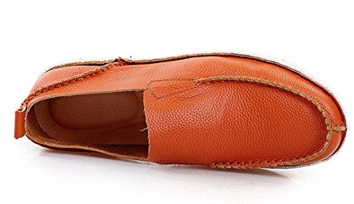 TDA ,  Herren Durchgängies Plateau Sandalen mit Keilabsatz Orange