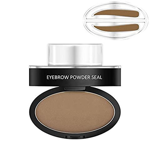 Huayang| Eyebrow Stamp for Perfect Eyebrow Natural, Eyebrow Powder Stamper Seal Thrush Artifact Stencil Long-Lasting Waterproof Eyebrow Makeup-Light Brown(Synophridia)