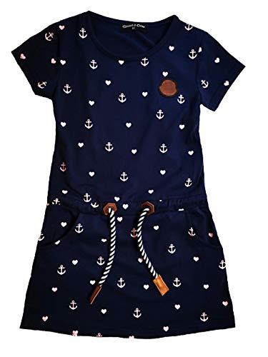SQUARED & CUBED Sommerkleid Kleid Herz Anker Baumwolle blau (98) Anker Kleid