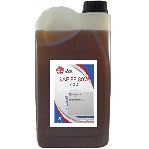 DLLUB – HUILE BOITE SAE 80W GL4 EP 80W – 2 litres pas cher