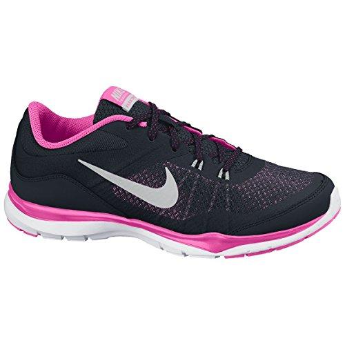Nike WMNS Flex Trainer 5, Sneaker donna BLACK/MTLLC SILEVR-PINK POW-SPRT FCH