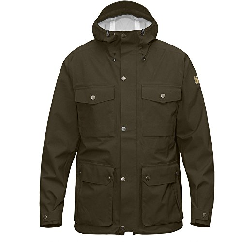 Fjällräven Herren Övik Eco-Shell Jacket Hardshelljacke, Dark Olive, M