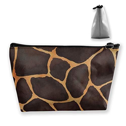 Womens Cosmetic Bag Leopard Skin Print Multifunction Makeup Portable Pouch Handbag Receive Bag,Trapezoid