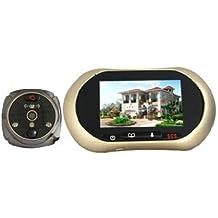 Agente007 - Mirilla Timbre Camara Digital Con Grabacion Y Detector De Movimiento + Vision Nocturna 3,7&Quot; Lcd