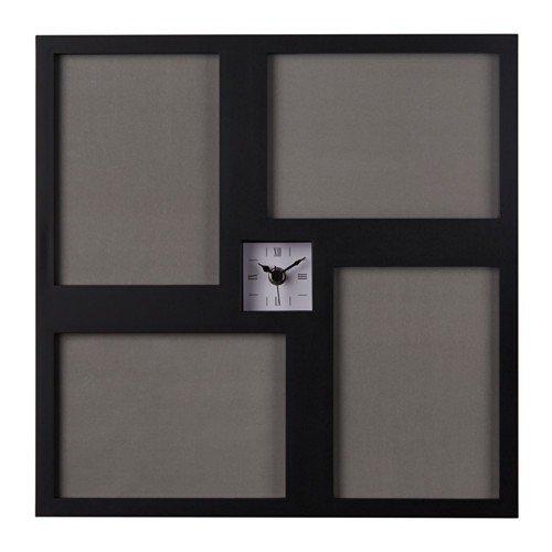 Ikea kravatt Reloj de pared en negro; (36x 36cm)