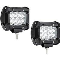 Barra de luces LED, 2 piezas 36W 5500 lúmenes Cree LED Spot Light Off Road Light Driving Luz de niebla Super Boat Lights Lamb Waterproof, 2 años de garantía