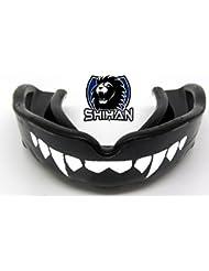 Protector bucal vampire- DRACULA dentada Junior Negro Sensei J FIRMA ' fangs-teeth - 'JUNIOR', MMA, rugy , UFC Lucha BJJ ,Hockey,patinaje sobre hielo, Voleibol, fútbol, JUDO , Jiu Jitsu