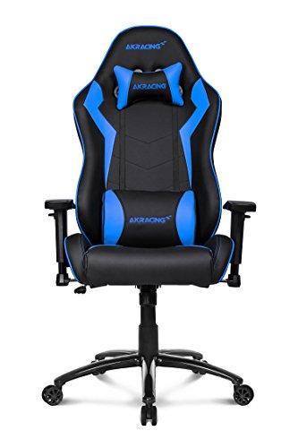 41R cu1drmL - AKRACING silla mesa para Gaming Faux Piel Blanco