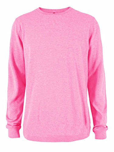Ladies Plain Classic Sweatshirts Sizes 6 to 30 - CASUAL SPORTS LEISURE WORK (16 to 18 - L / LARGE, PINK)